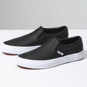 Vans slip on - perf leather